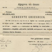 Extract of a death certificate