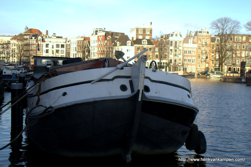 Ship on the Amstel River, Amsterdam