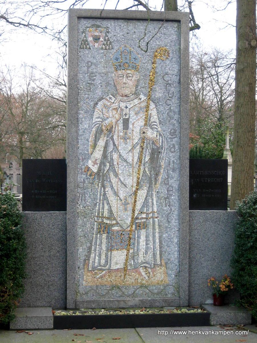 Tomb of Archbishop Van de Wetering, Archbishop of Utrecht. St Barbara Cemetery, Utrecht