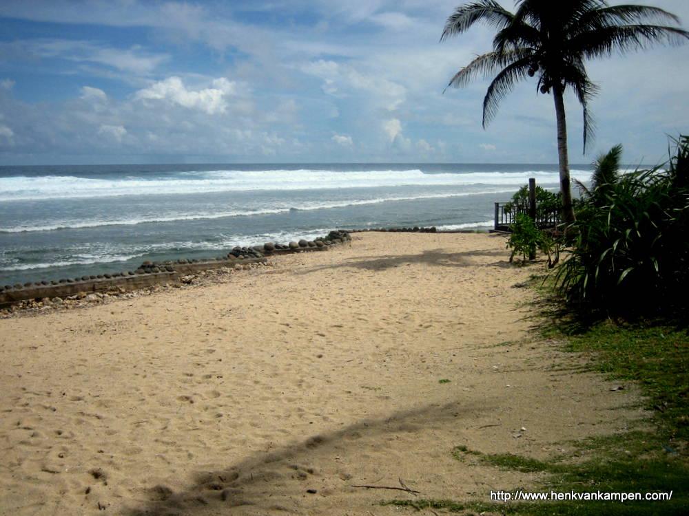 Beach and ocean at the Surf Camp, Samar