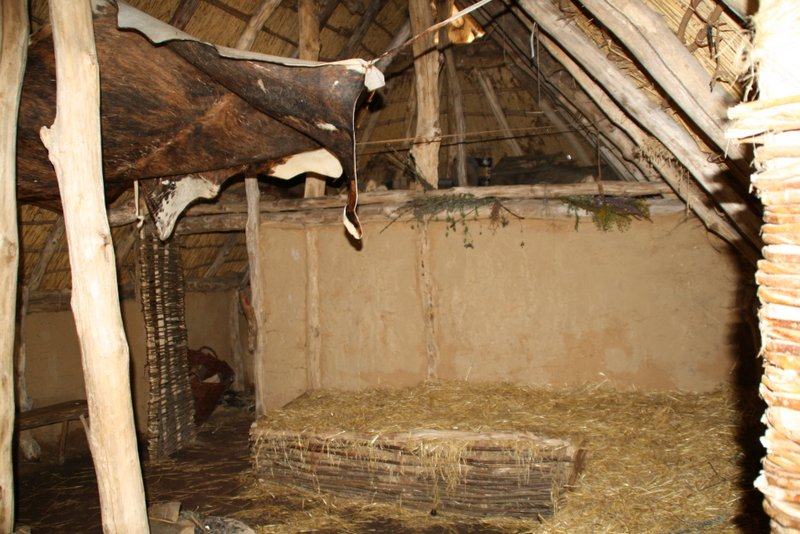 Inside a reconstructed prehistoric house