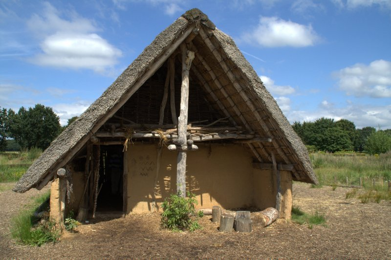 Reconstructed prehistoric house