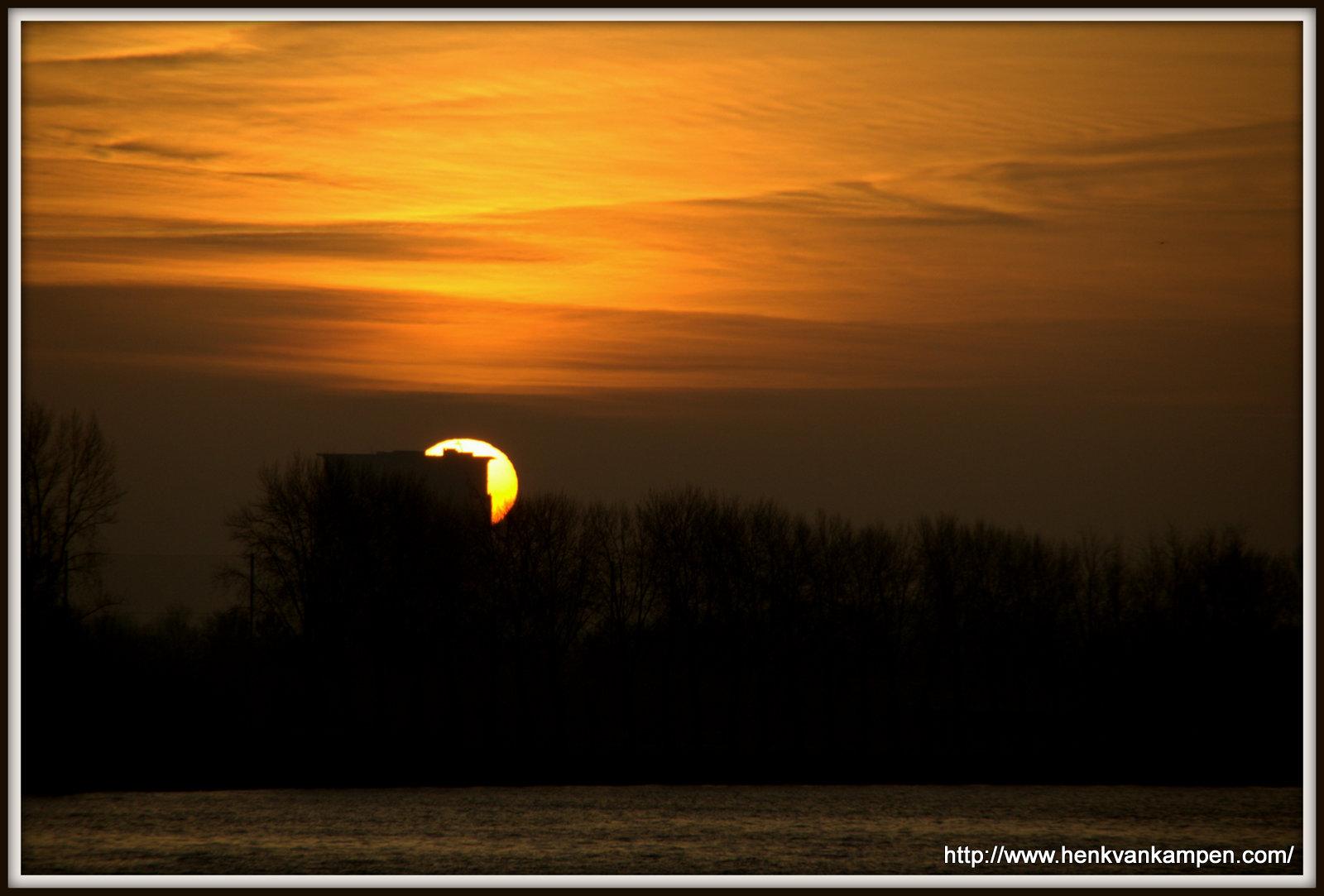 Sunrise on the Amsterdam Rhine Canal, Nieuwegein, the Netherlands