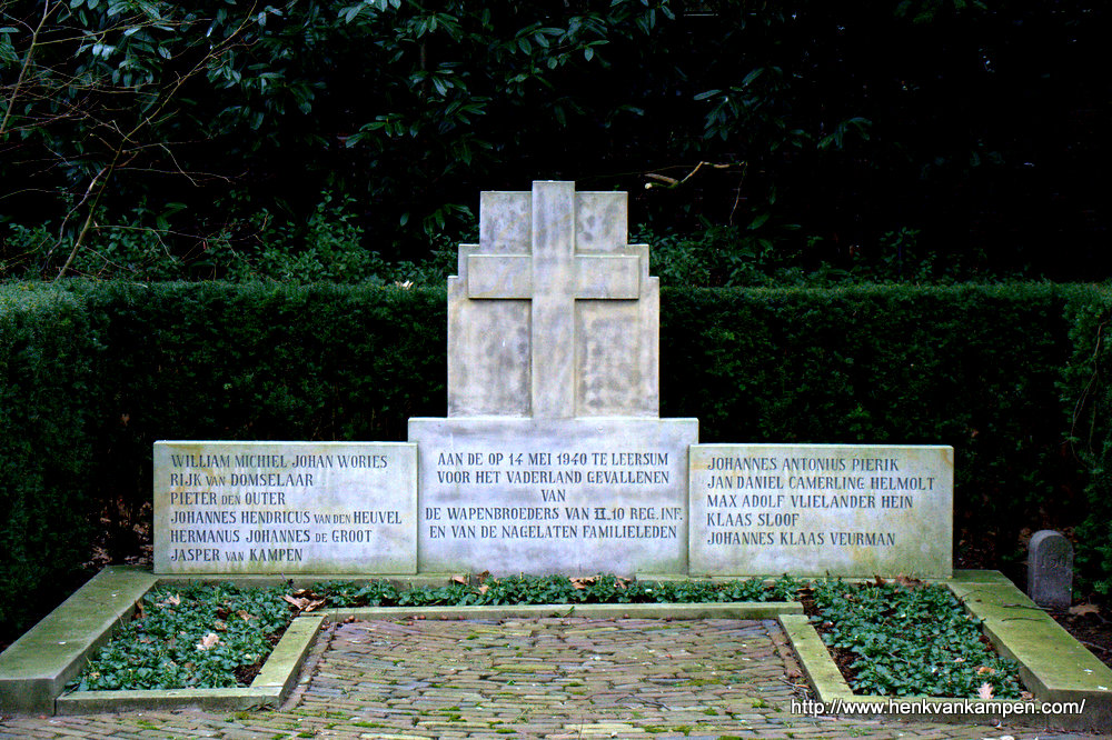 Grave of soldiers that fell in Leersum