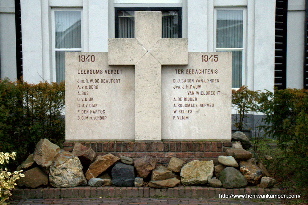 Monument for resistance movement in Leersum