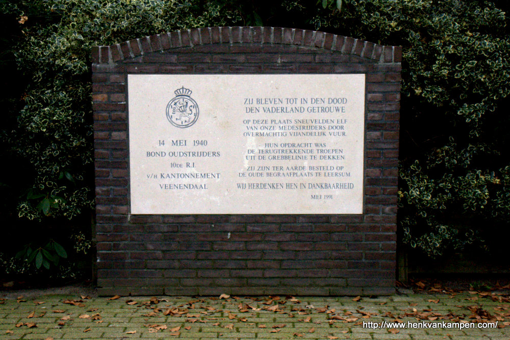 Monument for fallen soldiers in Leersum