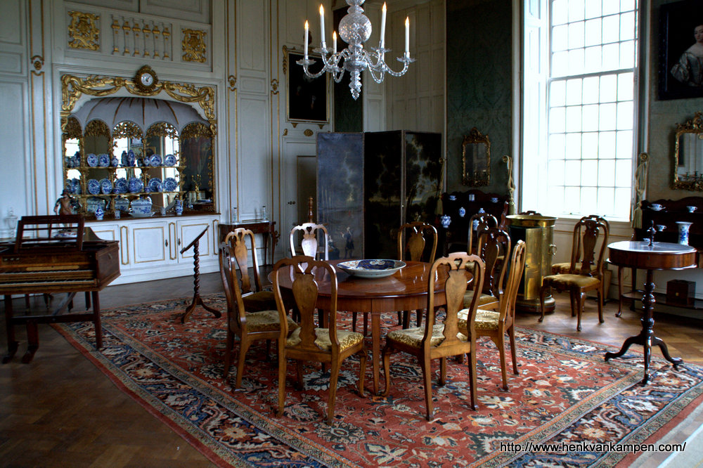 Dining room of Amerongen Castle