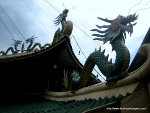 Detail of the taoist temple of Cebu