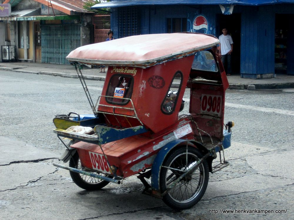 A tricycle in the Philippines.