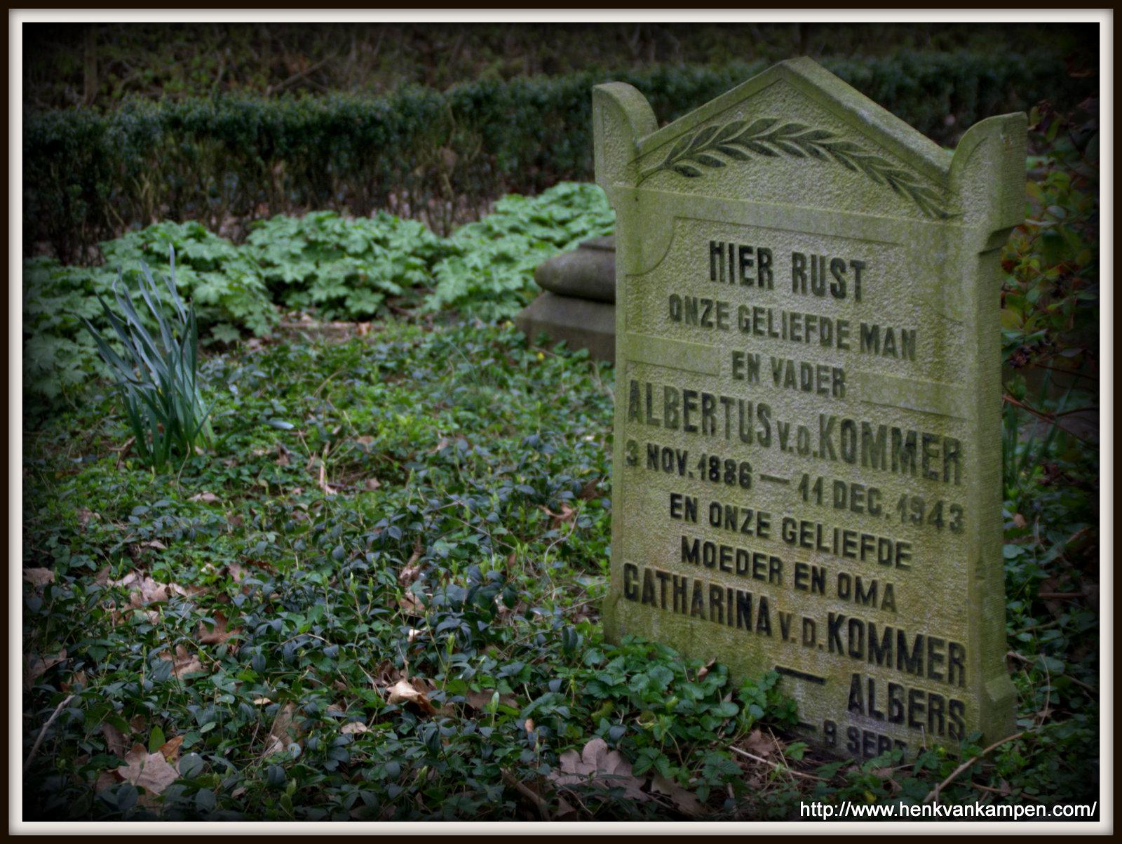 Van den Kommer tombstone, Kerkveld cemetery, Nieuwegein