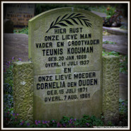 Tombstone Tuesday: Kooijman – den Ouden