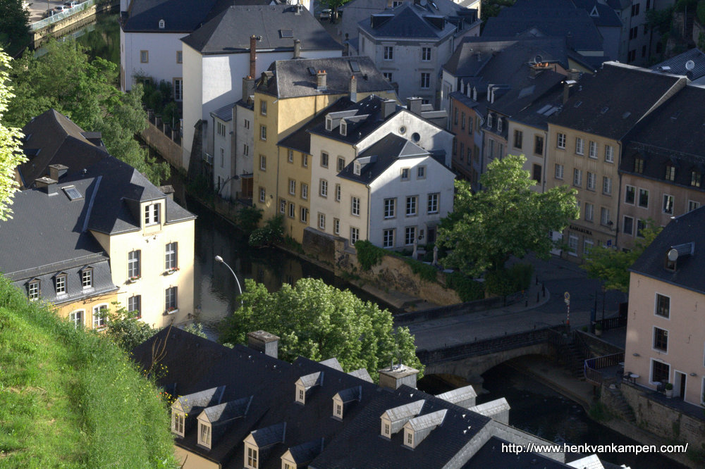 Alzette River and Grund, Luxembourg