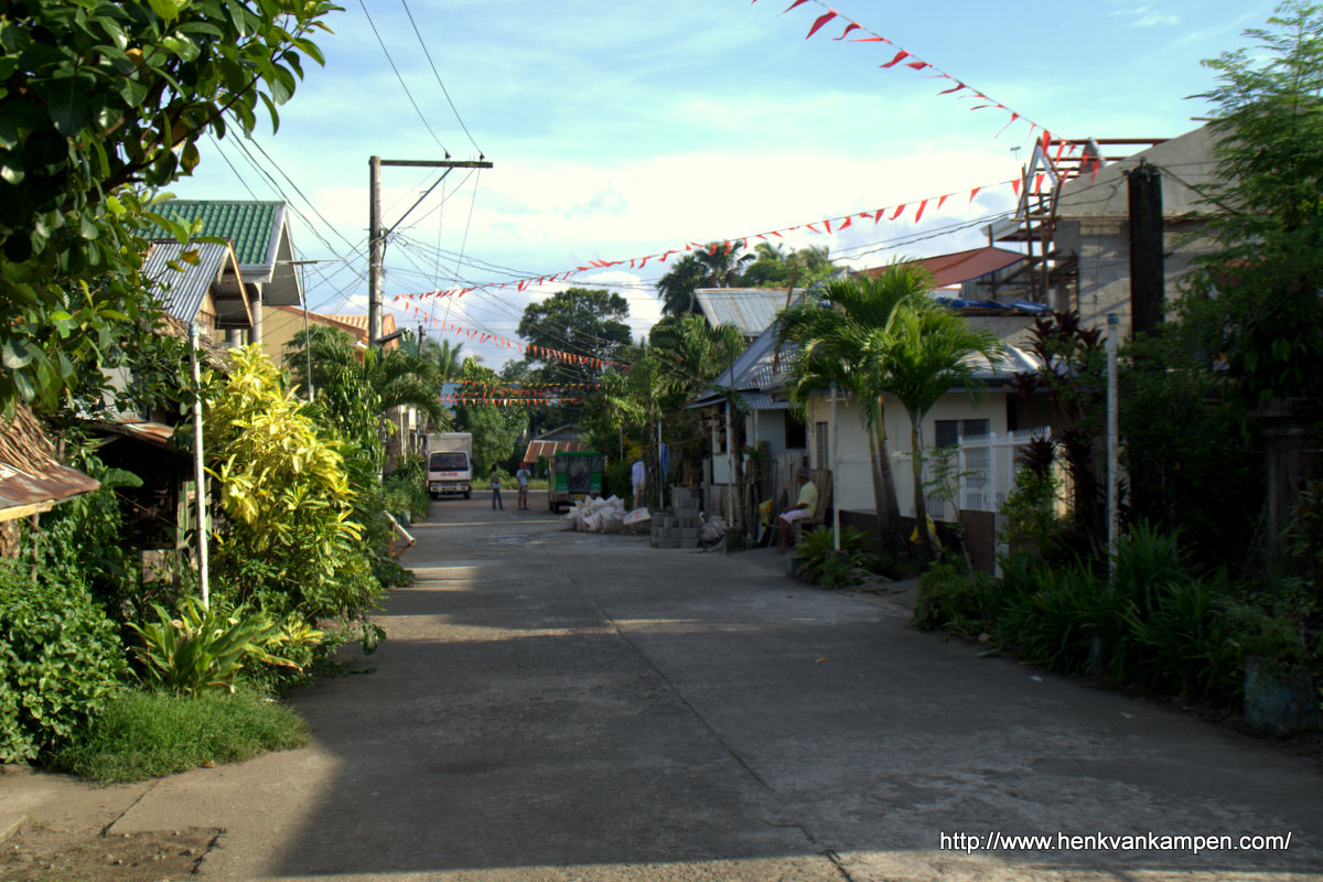 A street in Carigara, the Philippines