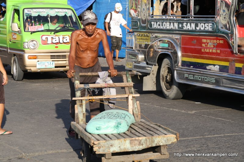 Man at work, Tacloban City, Philippines