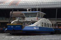 Ferry across the IJ river