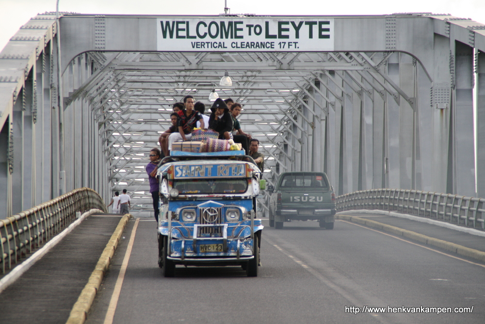 Jeepney on the San Juanico Bridge, Philippines
