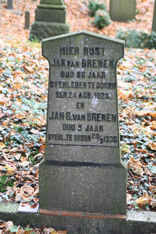 Tombstone of Jan van Brenen, Old Cemetery, Doorn
