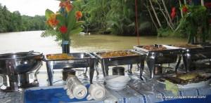 Floating restaurant on Loboc River, Bohol
