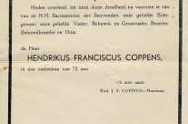 Gathering dust: The death announcement of Hendrikus Franciscus Coppens (1872-1945)