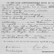 Death certificate of Neeltje Vermeij