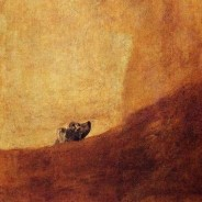 Goya's black paintings: Half-submerged dog