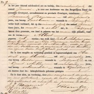Birth certificate of Albert Melessen
