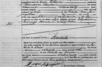 Birth certificate of Hendrik van Kampen