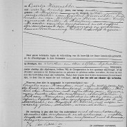 Marriage certificate of Hendrik van Kampen and Geertje Wiesenekker