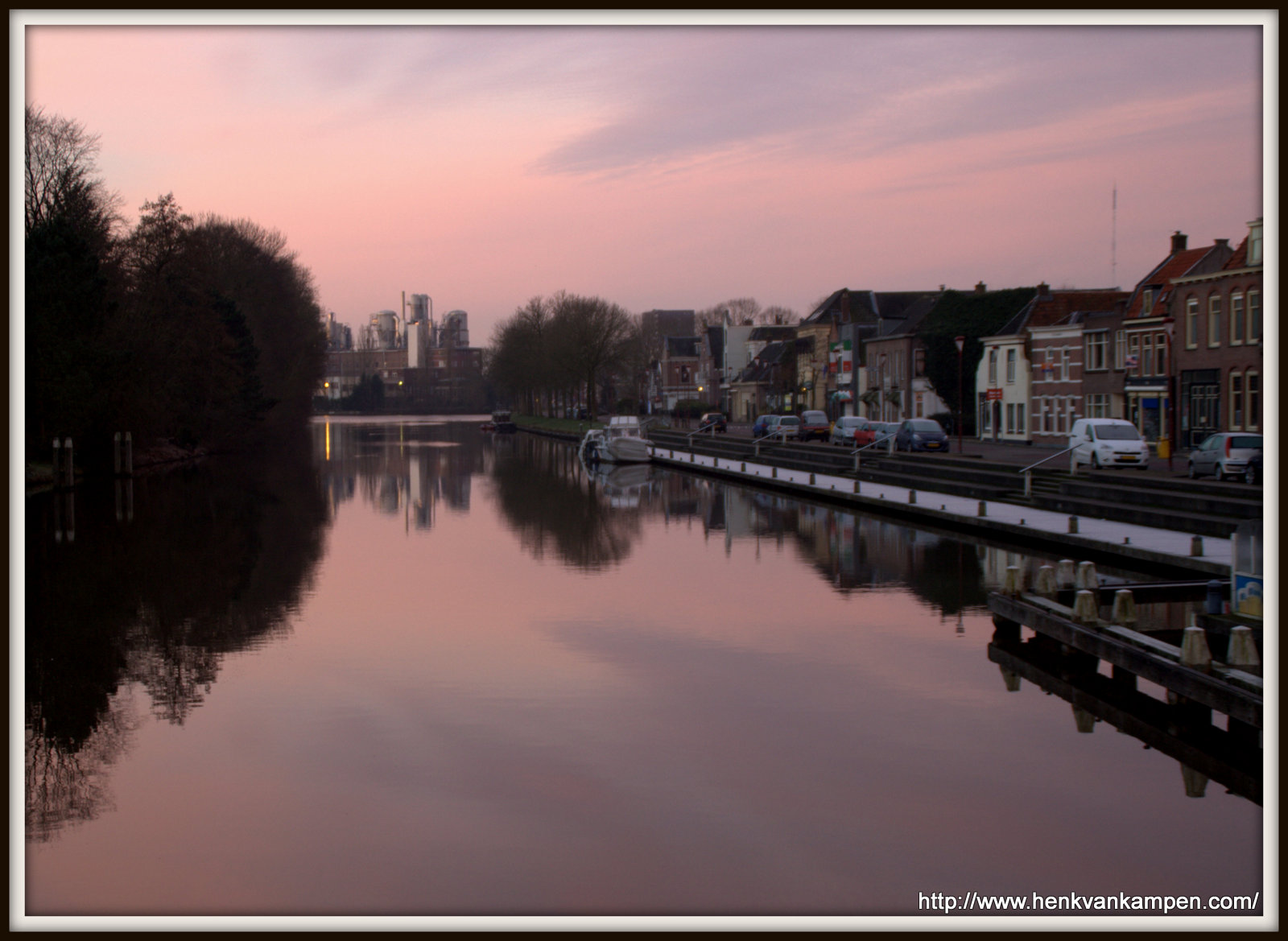 The Merwede Canal in Nieuwegein at sunrise