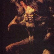 Goya's black paintings: Saturn devouring one of his children