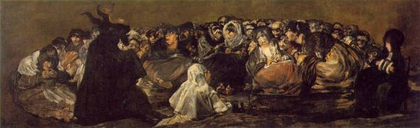 Francisco Goya - Black paintings - The witches sabbath or the great he-goat