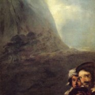 Goya's black paintings: Heads in a landscape