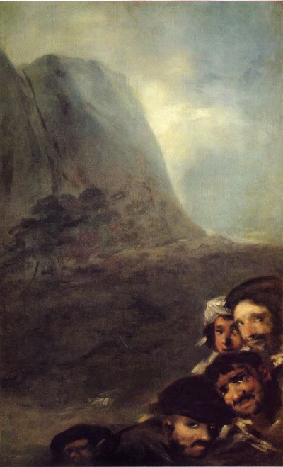 Francisco Goya - Black Paintings - Heads in a landscape