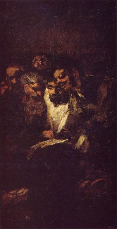 Francisco Goya - Black Paintings - The Reading