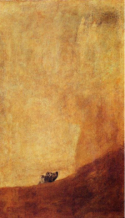 Francisco Goya - Black Paintings - Half-submerged dog