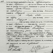 Death certificate of Korneliske Abels Franssens