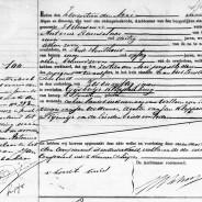 Death certificate of Gijsbertje Kloppenburg