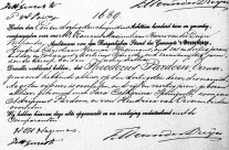 Death certificate of Theodorus Pardoen