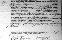 Death certificate of Petronella Catharina Wilhelmina Oosthout