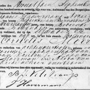 Death certificate of Cornelis Moerman