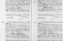 Death certificates of Rijk Houthuijzen and Aaltje Bollebakker