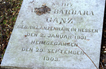 Tombstone Tuesday: Anna Barbara Ganz