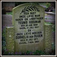 Tombstone Tuesday: Kooijman – den Ouden