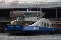 Ferry across the IJ river