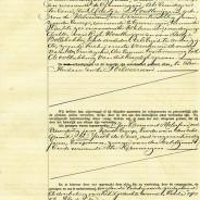 Marriage certificate of Albert Melessen and Mietje Houthuijzen
