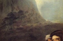 Goya's black paintings: Heads in a landscape