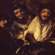 Goya's black paintings: Two women and a man
