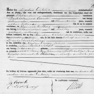 Death certificate of Jan Bollebakker
