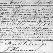 Death certificate of Cornelis Moerman