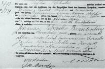 Death certificate of Johanna Petronella Brandenburg